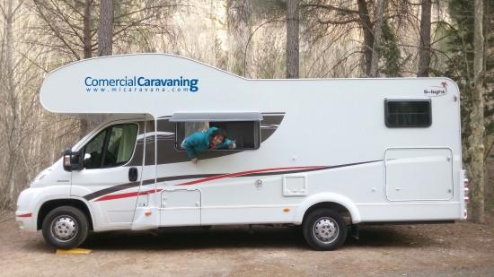 Zuriñe Arrue Ganadora Premio Fin de semana Autocaravana Comercial Caravaning